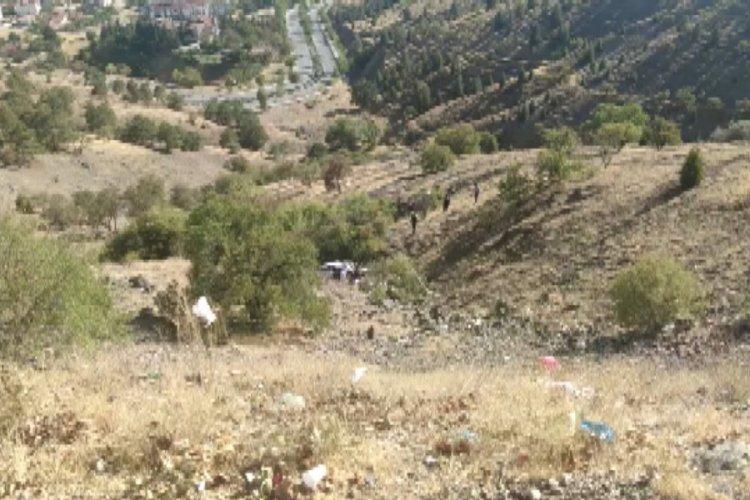 Yoldan çıkan otomobil 150 metre yuvarlandı: 2 yaralı
