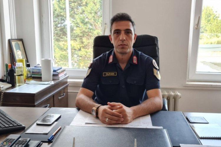 Bursa İznik İlçe Jandarma Komutanlığı'na Jandarma Astsubay Duran atandı
