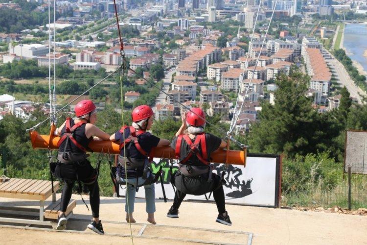 Bursa'da adrenalin yaşamak isteyenlerin adresi: Macera parkı