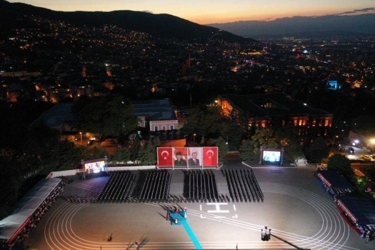 Bursa'da jandarma astsubay öğrencilerine mezuniyet töreni!