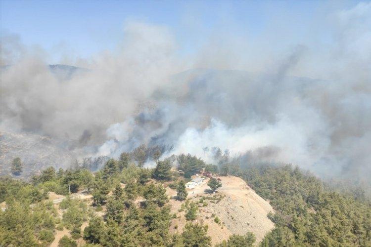 Muğla'daki orman yangınlarına 3 uçak ve 12 helikopterle müdahale ediliyor
