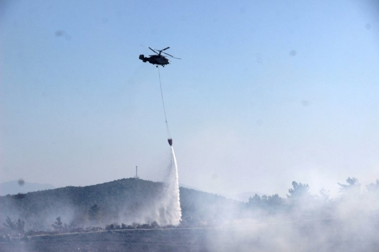 Bodrum'daki yangın 5 saatin ardından kontrol altında