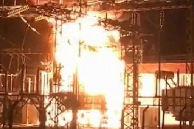 Denizli'de trafo merkezinde yangın paniği