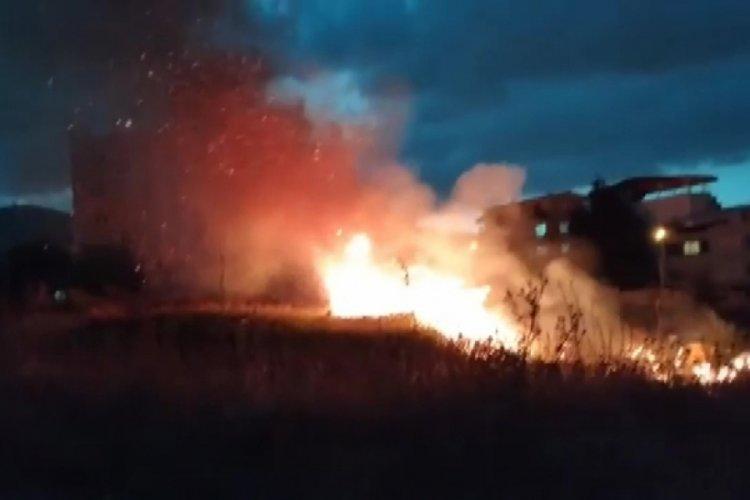Bursa'da çalılıkta korkutan yangın: 3 kişiye gözaltı!