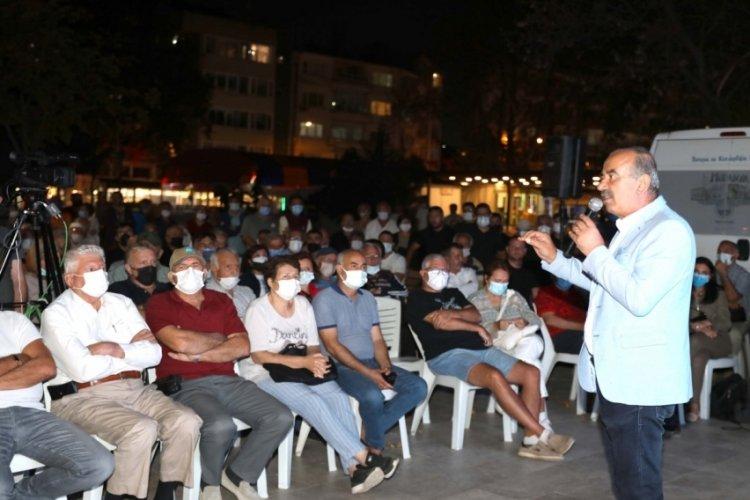 Bursa Güzelyalı imar plânı halka anlatıldı