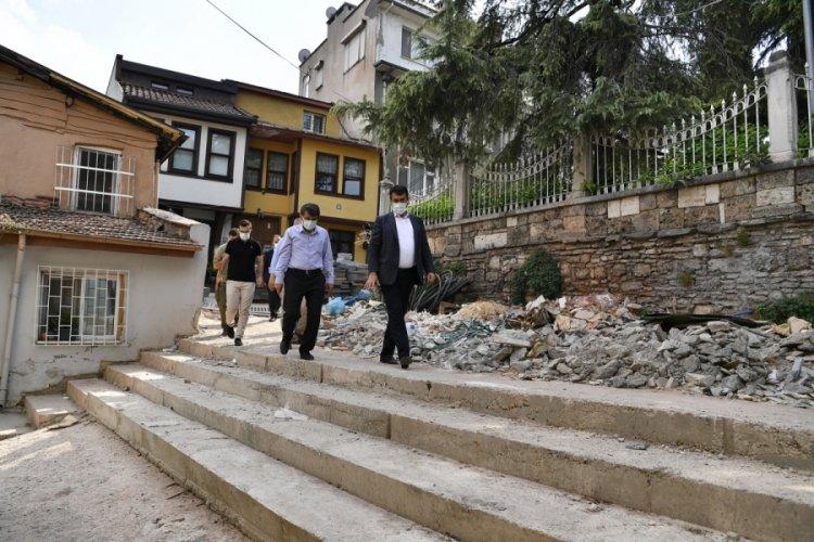 Bursa'da Sümbüllü Bahçe Konağı, ihtişamlı görünümüne kavuşuyor