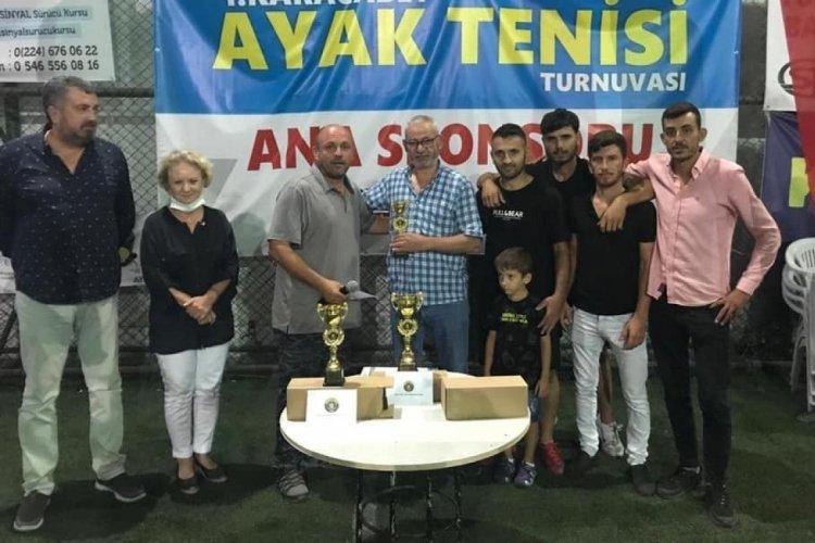 Bursa'da Ayak Tenisi Turnuvası sona erdi