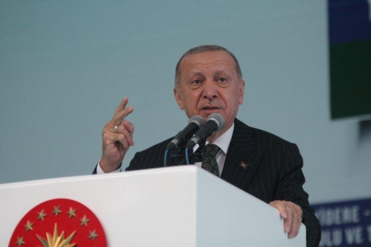 Cumhurbaşkanı Erdoğan: Ne kadar sol varsa, komünist varsa alıp buraya geliyorlar