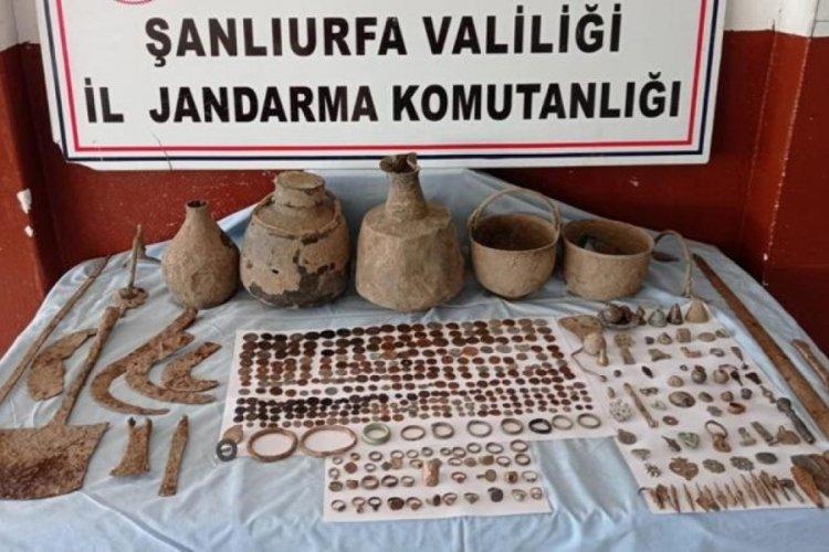 Şanlıurfa'da 528 parça tarihi eser bulundu