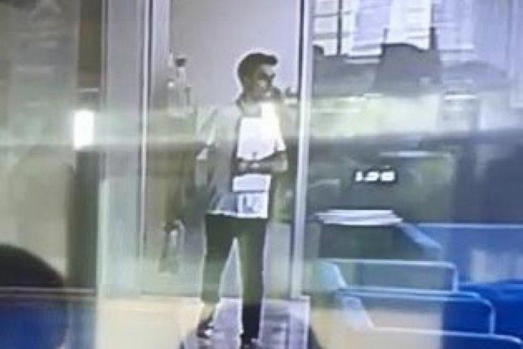 Bursa'da kameraya gülümseyen hırsız tutuklandı