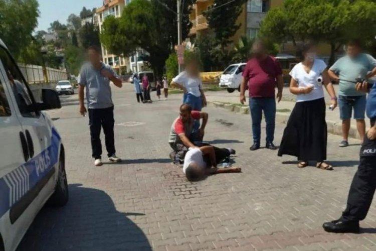 Akrabalarını sokak ortasında bıçaklayan kişi yakalandı