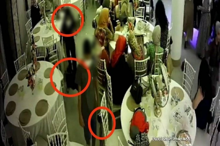Bursa'da düğün salonunda hırsızlık! Önce dans ettiler sonra çaldılar