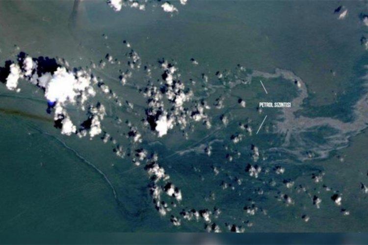 Petrol sızıntısı uzaydan görüntülendi