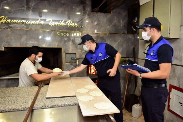 Bursa Yıldırım'da marketler ve fırınlar mercek altında