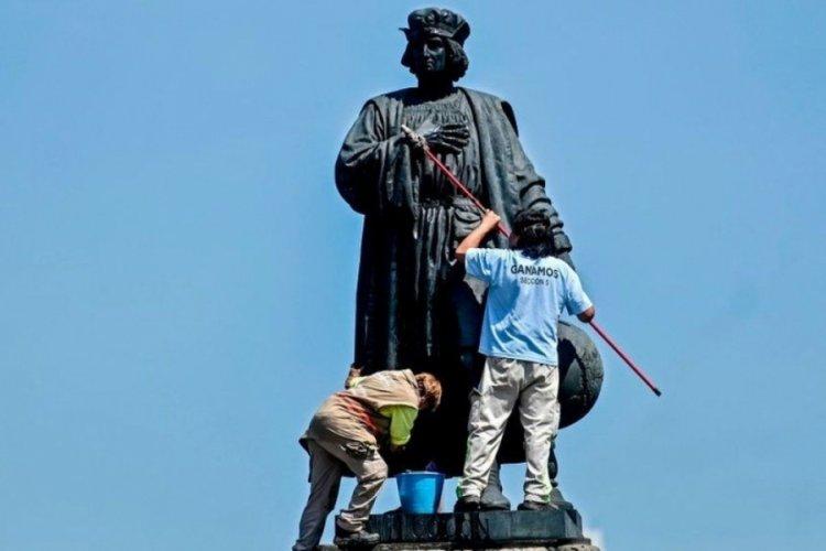 Kristof Kolomb heykelinin yerine yerli kadın heykeli yerleştirilecek