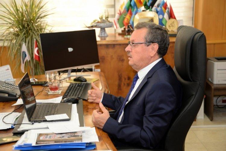 Bursa UÜ Rektörü Kılavuz ve OİB Başkanı Çelik OTEKON'un açılış töreninde yer aldı