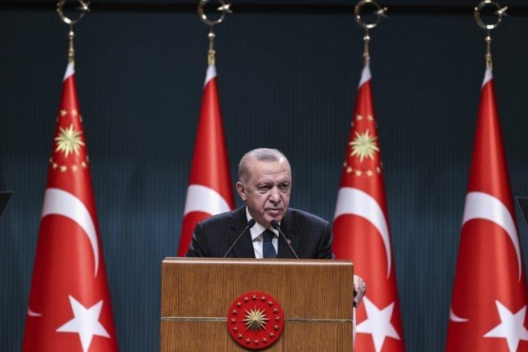 Cumhurbaşkanı Erdoğan 'Hayırlı olsun' mesajıyla duyurdu!