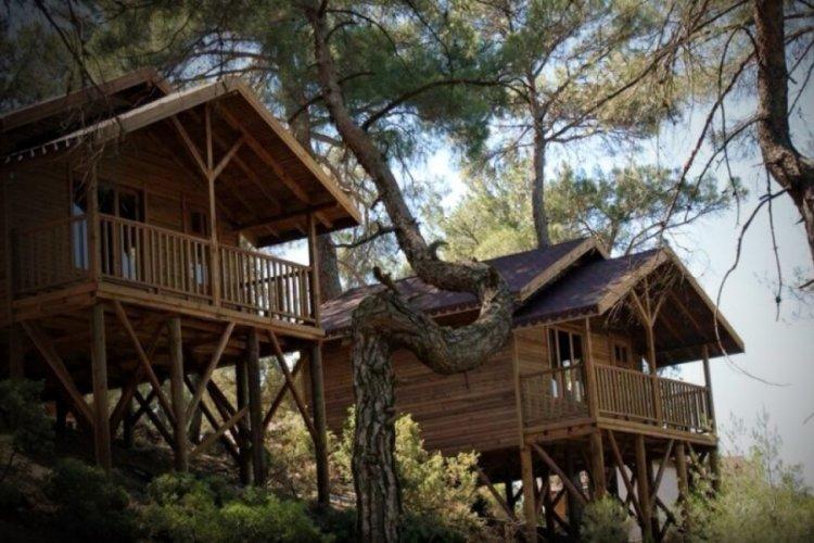 Bursa Harmancık'ta doğayla iç içe tatil imkanı