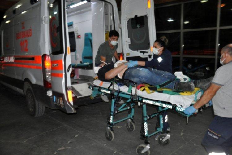 Karaman'da ehliyetsiz ve kasksız kullandığı motosiklet kazasında kulağı koptu!