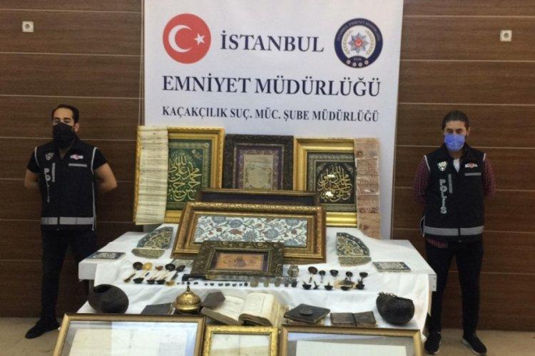 İstanbul'da antika dükkanına operasyon! 88 tarihi eser ele geçirildi