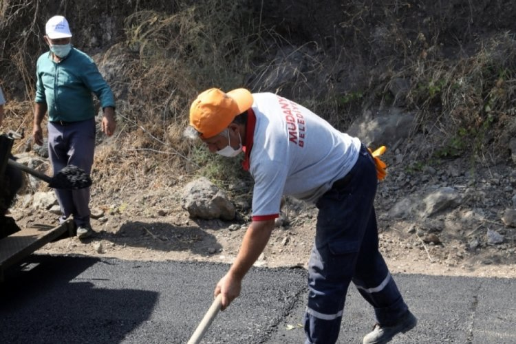 Bursa Mudanya'da asfalt çalışmalarına devam!