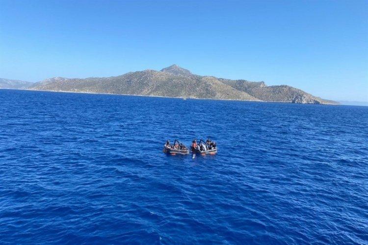 Datça açıklarında 21 kaçak göçmen kurtarıldı