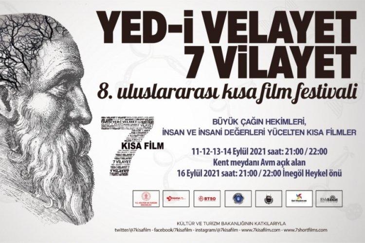 Bursa'da 8. Uluslararası Yed-i Velayet 7 Vilayet Kısa Film Festivali 11 Eylül'de başlıyor