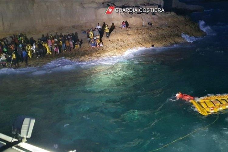 İtalya Sahil Güvenliği,125 düzensiz göçmeni kurtardı