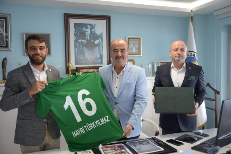 Bursaspor'dan Hayri Türkyılmaz'a ziyaret