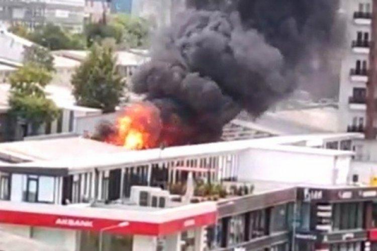 İstanbul Beylikdüzü'nde yangın paniği