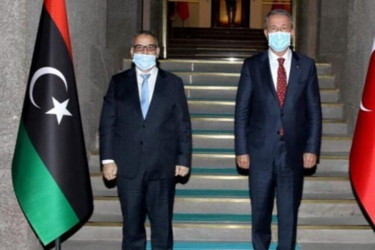 Bakan Akar Libya Yüksek Devlet Konseyi Başkanı El-Meşri ile görüştü