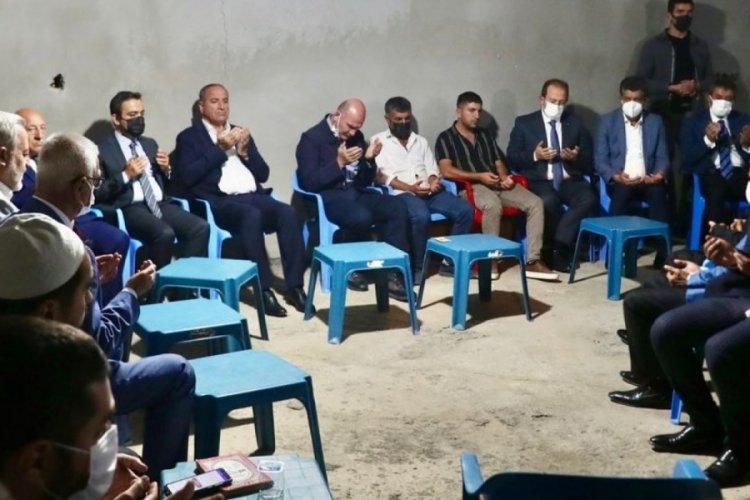 Bakan Soylu'dan Miraç Miroğlu'nun ailesine taziye ziyareti