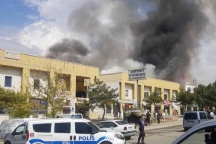 Ankara OSTİM'de yangın meydana geldi