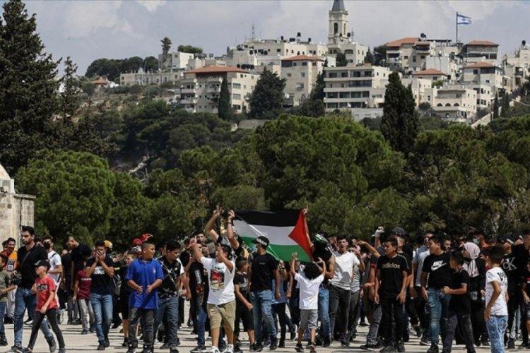 Mescid-i Aksa'da Filistinli tutuklulara destek gösterisi