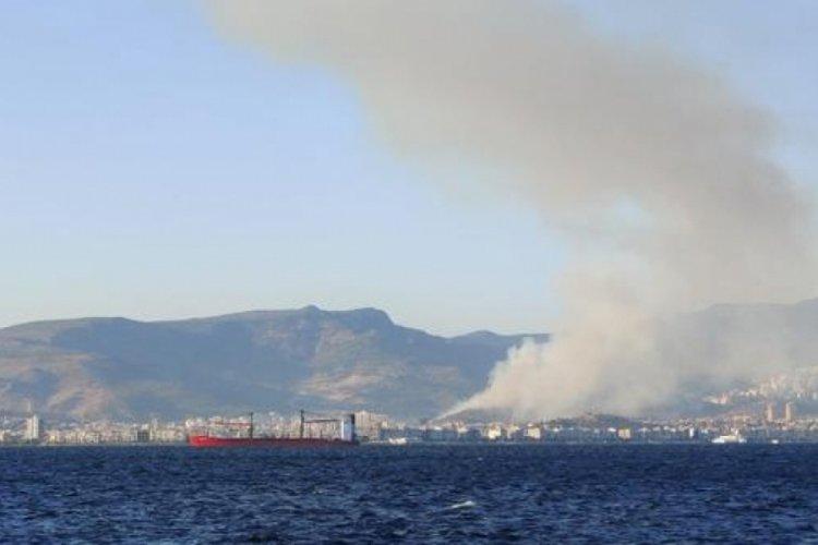 İzmir Karşıyaka'da orman yangını!