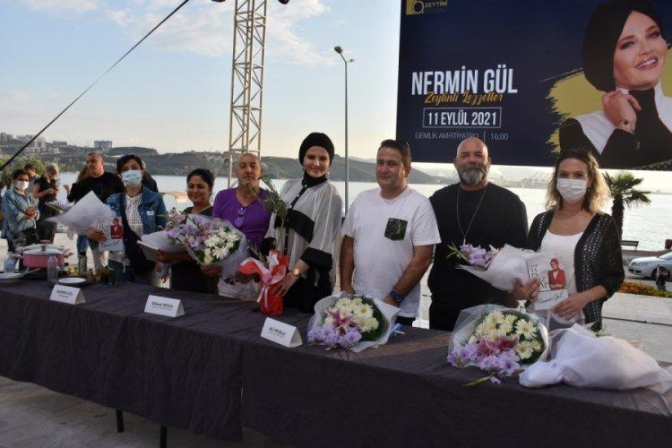 Bursa Gemlik'te festivalde zeytinli tatlar yarıştı