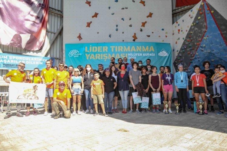 Bursa Nilüfer'de tırmanma yarışı