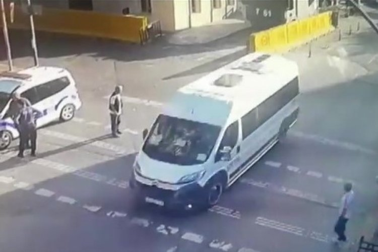 İstanbul Beyoğlu'nda çarptığı kişiyi kontrol etmek için taksiyle geri geldi!