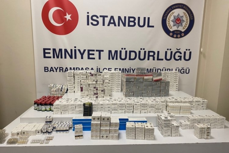 İstanbul Bayrampaşa'da 400 bin liralık hap ele geçirildi