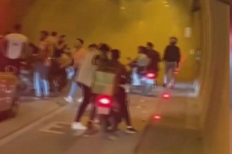 İstanbul'da asker eğlencesi için Kağıthane Tüneli'ni kapattılar