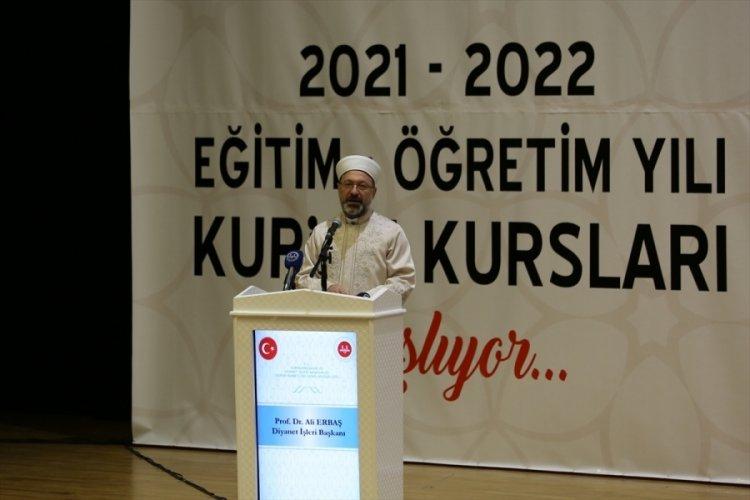 Diyanet İşleri Başkanı, Kur'an Kurslarının Açılış Programına katıldı