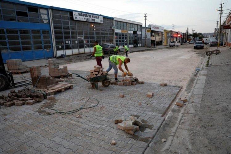 Bursa İnegöl Metal Sanayi Sitesi'nde yollar yenileniyor