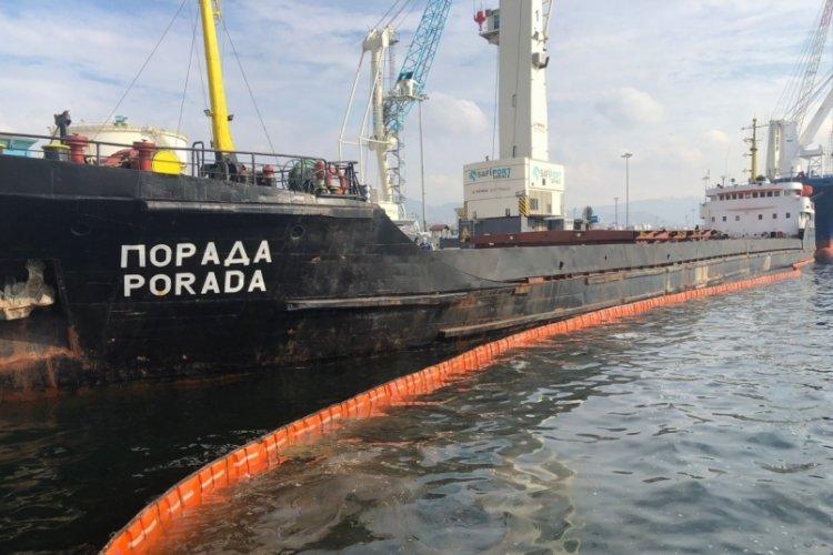İzmit Körfezi'ni kirleten gemiye 1,2 milyon ceza!