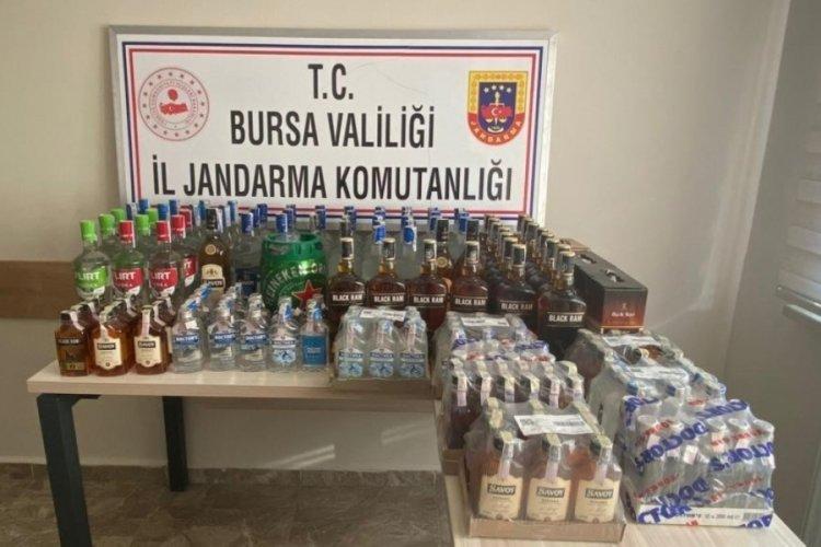 Bursa'da kaçak içki operasyonu! İşletmeci gözaltında