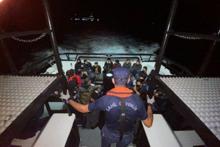 Çanakkale Ezine açıklarında 35 kaçak göçmen yakalandı