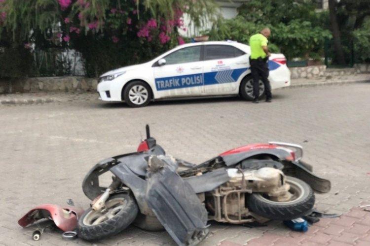 Muğla Fethiye'de kazada motosiklet sürücüsü yaralandı