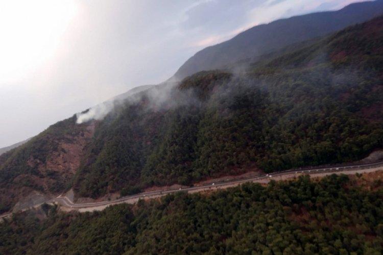 Marmaris'te düşen yıldırım, orman yangınlarına sebep oldu