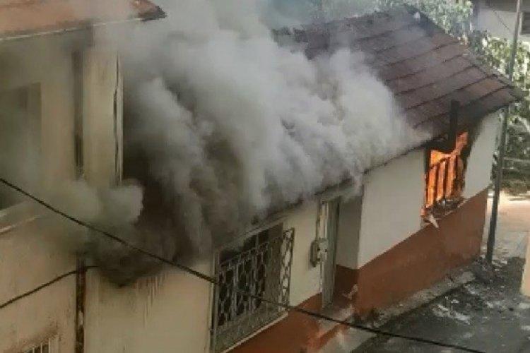 Bursa'da evi yakan tinerci mahalleyi birbirine kattı