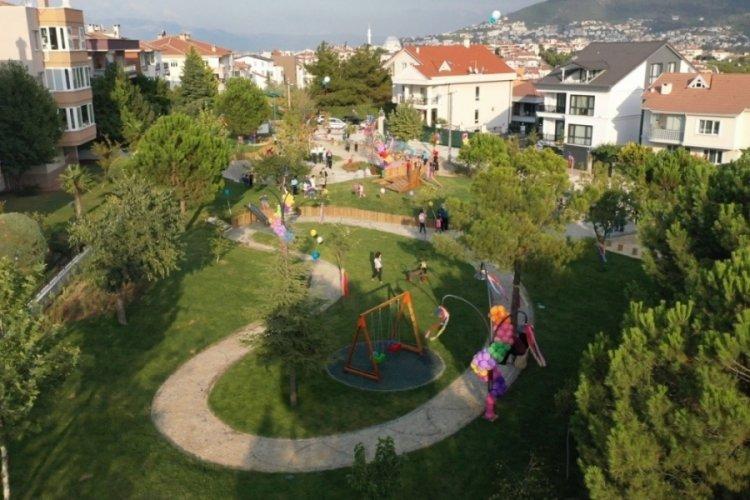 Bursa'da çocukların tasarladığı parkı çocuklar açtı
