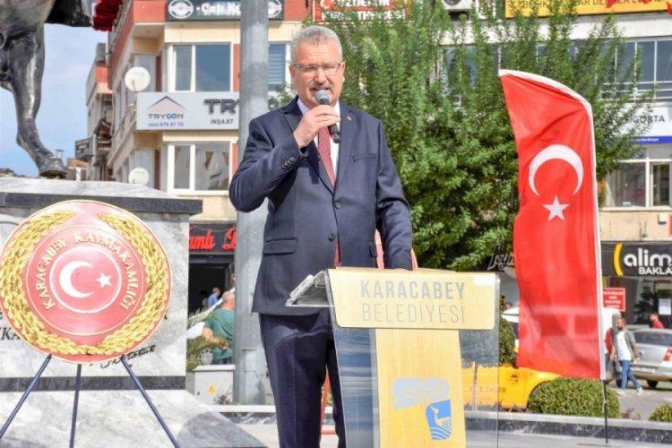 Bursa Karacabey'in kurtuluş yıl dönümü törenle kutlandı